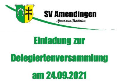 Einladung zur Delegierten-Versammlung am 24.09.2021